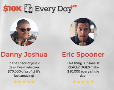 $ 10k aplicación para todos los días