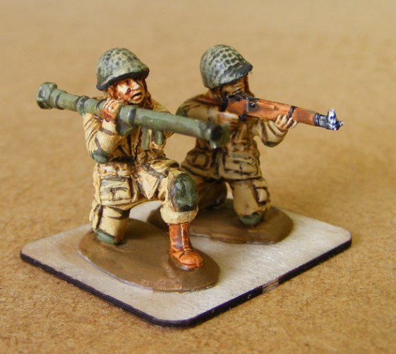 Painted bazooka team