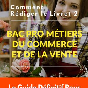 Livret 2 VAE Bac Pro Métiers du Commerce et de la Vente