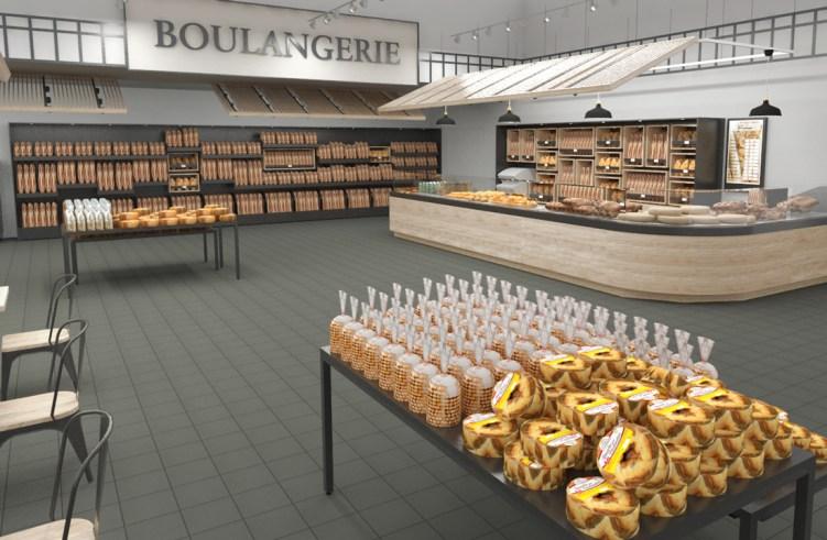 Etude de mobilier Boulangerie BVP