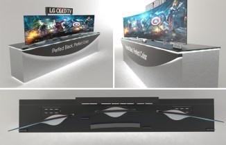Etude de meuble pour télévision LG - Conception VALIN