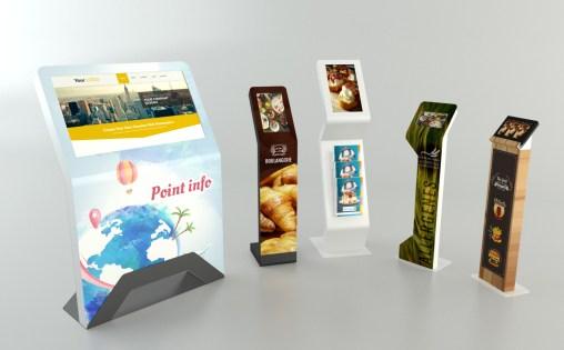 Gamme de bornes digital interactives pour le parlement européen - VALIN - Borne numérique tactile