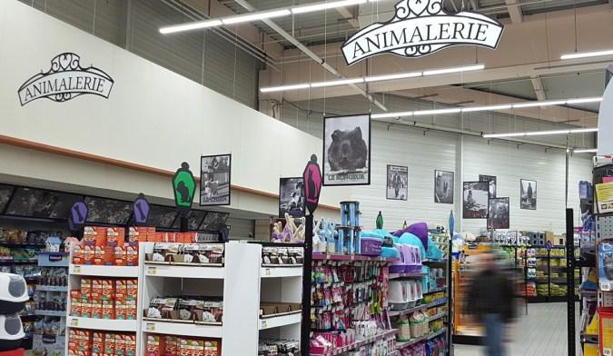 Habillage de rayon Petfood Animalerie - Fabrication VALIN