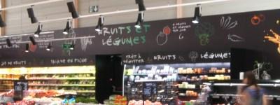 Création de signalétique pour l'aménagement d'un d'espace fruits et légumes pour une GMS
