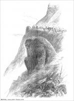 Os Rohirrim passam junto aos homens de Púkel, por John Howe