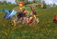 Uma cena de combate no LOTRO