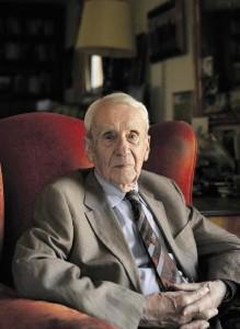 Foto de Christopher Tolkien aos 87 anos