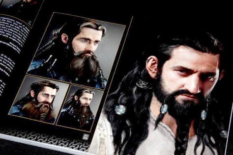 Arte sobre o rosto do ator – The Hobbit: An Unexpected Journey Chronicles – Art & Design
