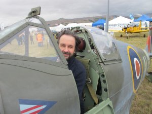 Peter Jackson num Spitfire da IIGM