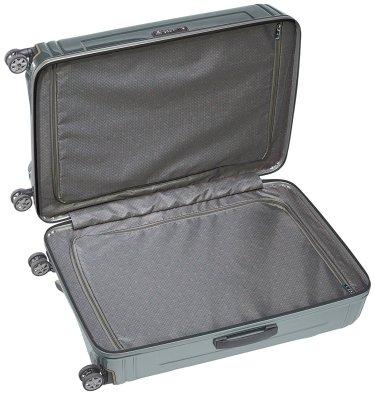 L'intérieure de la valise