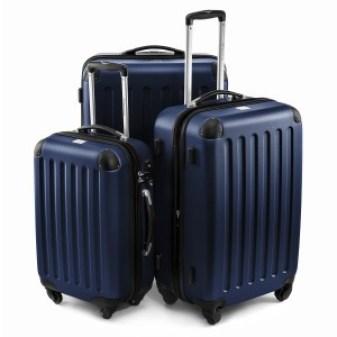 Le set de valise HAUPTSTADTKOFFER Spree en bleu foncé, plutôt design je trouve