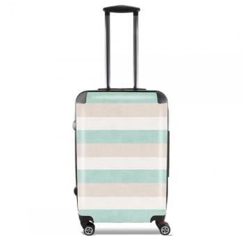 Valise aqua and sand stripes