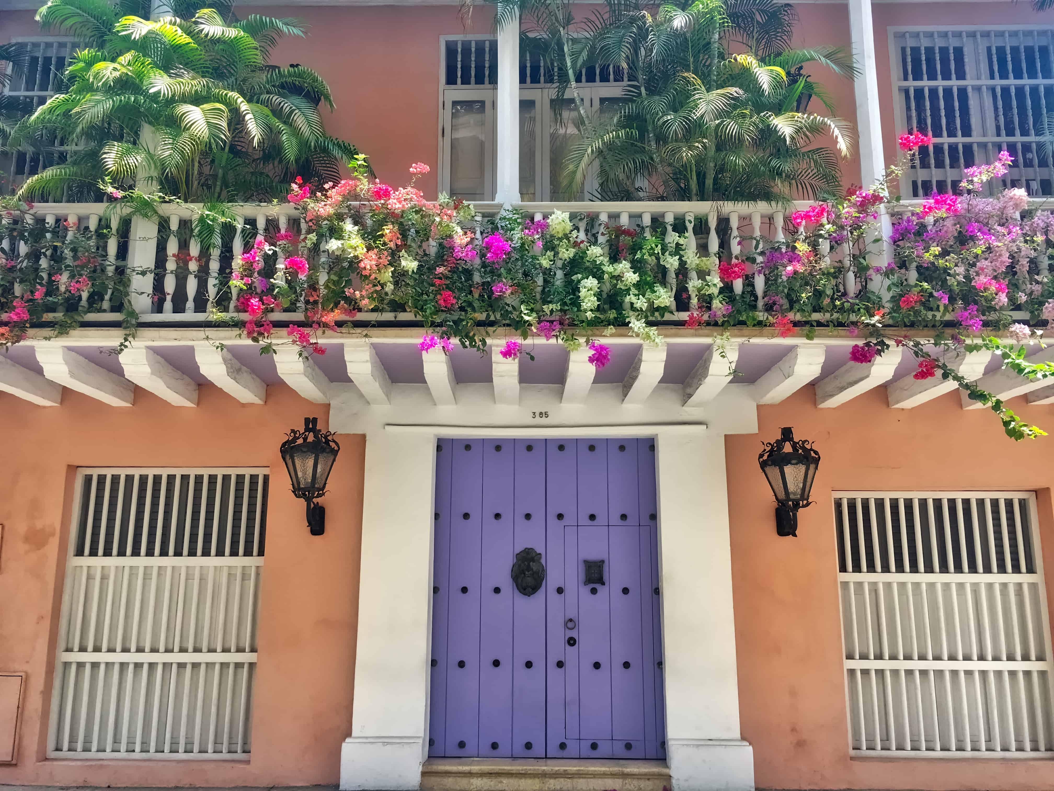 Cartagena Walking Tour - Colorful building and door