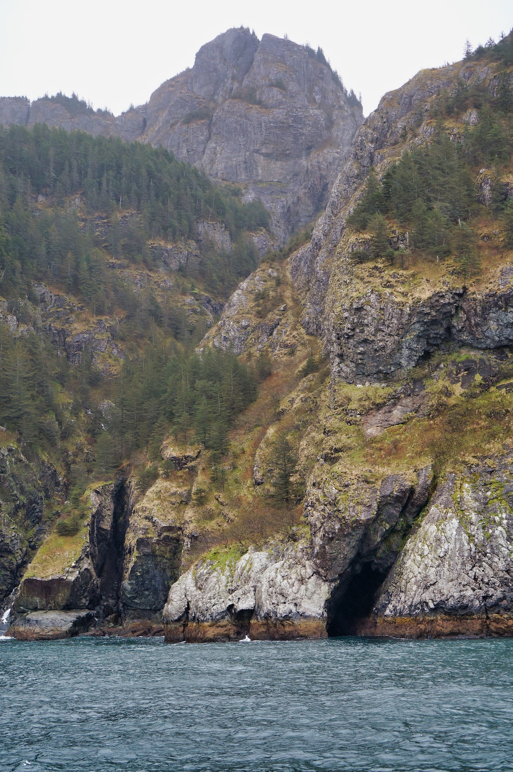 Cliffs in Kenai Fjords National Park