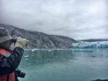Viewing Dawes Glacier