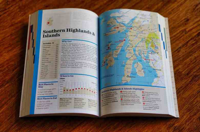 How to Use a Travel Guidebook: Read Region Sections