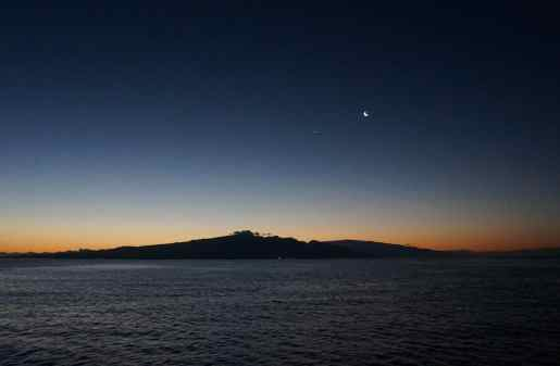 UnCruise - Day 3 - Moon & Venus over Maui