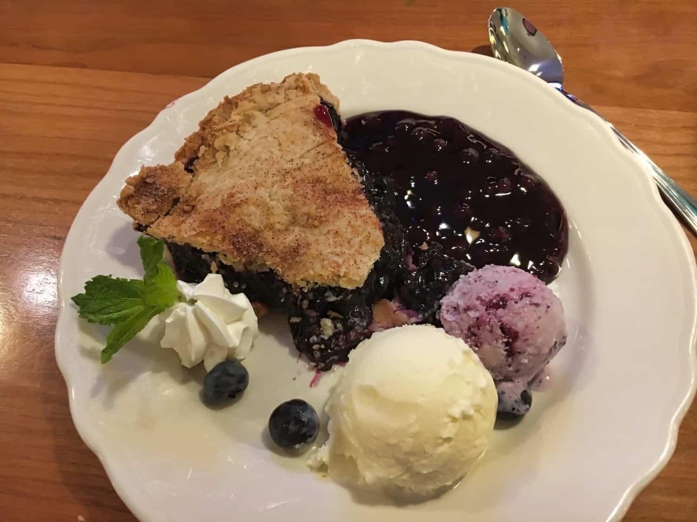 Bar Harbor Food - Blueberry Cobbler