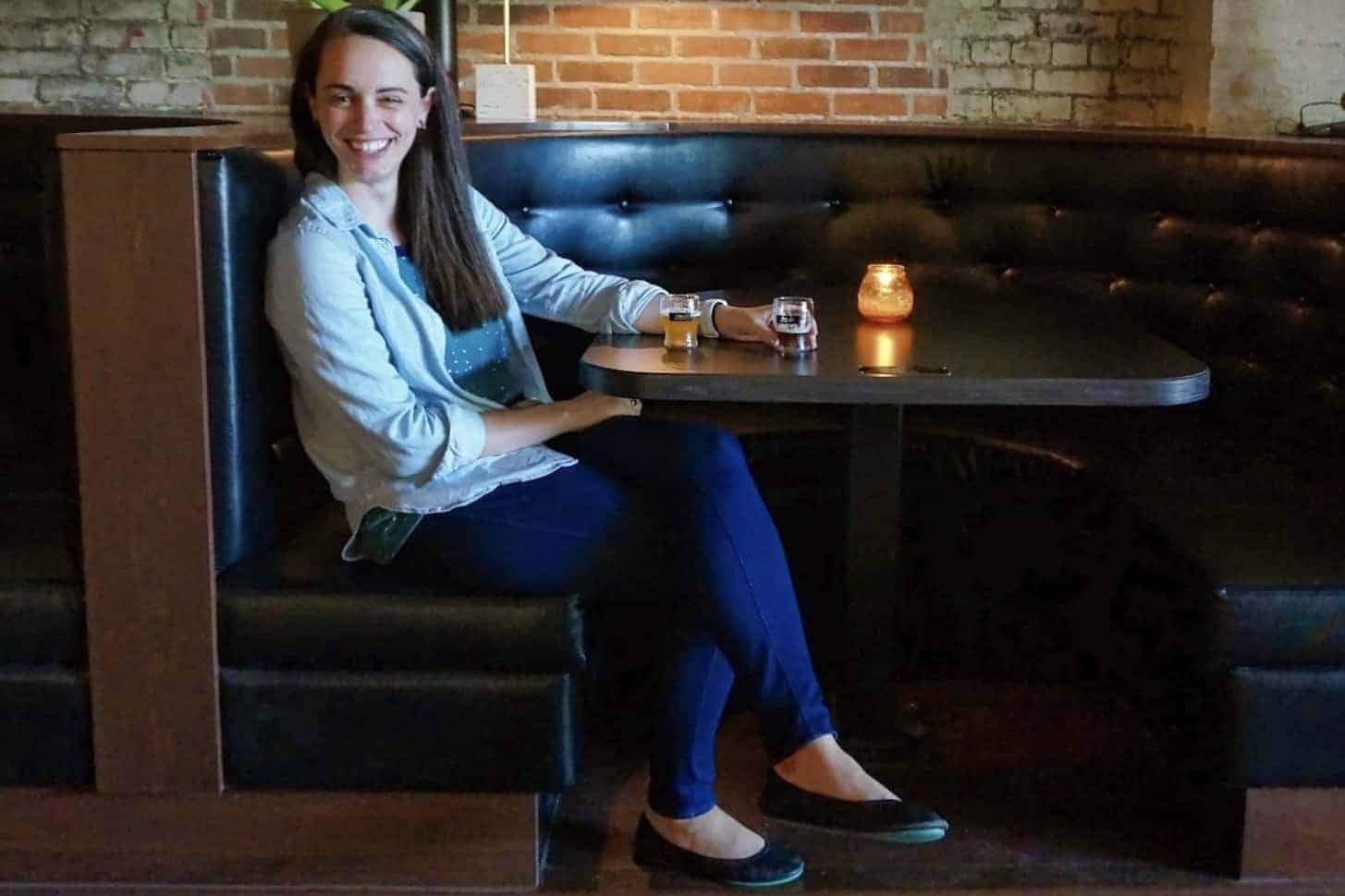 Valerie wearing Tieks in Ohio