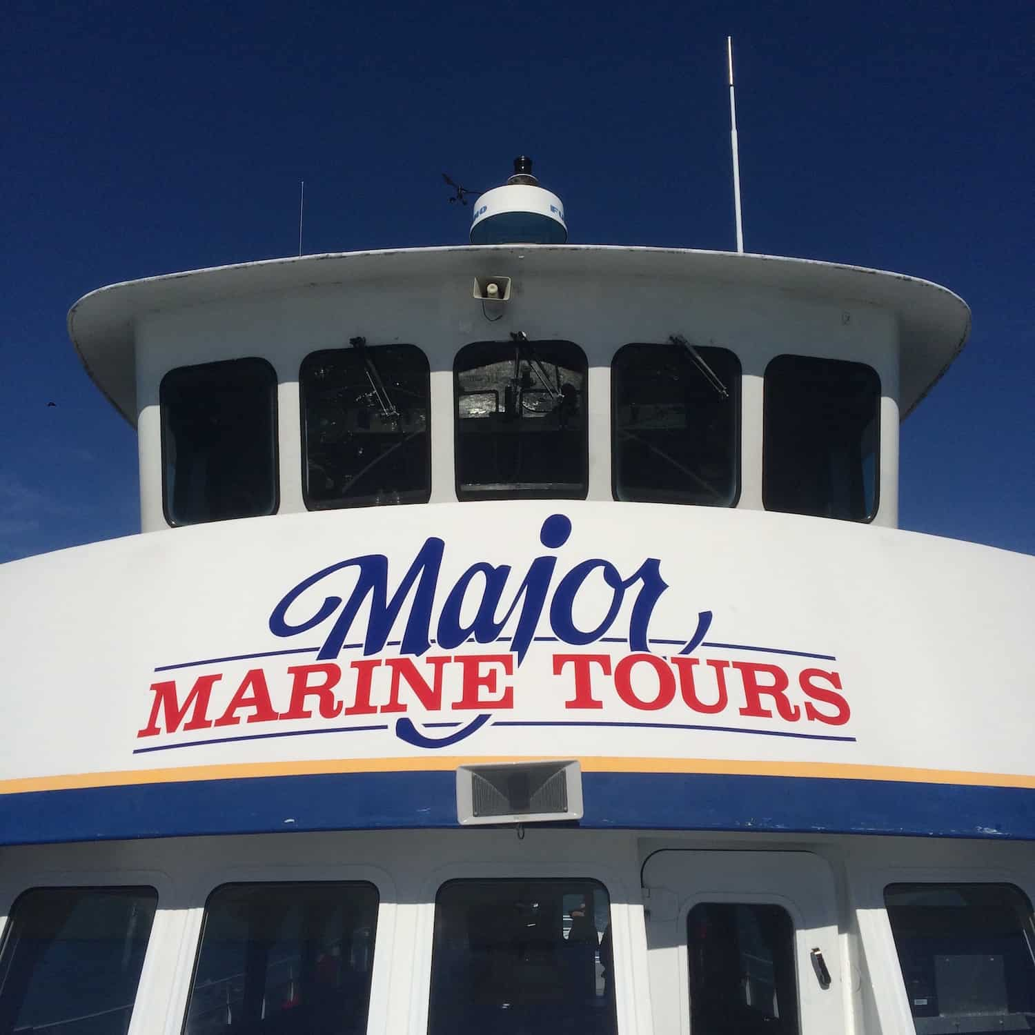 Major Marine Tours - Front of Boat