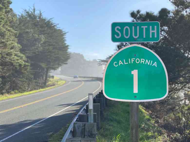 PCH Southbound Sign
