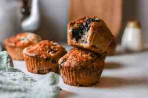 Blueberry Zucchini Muffins Hero