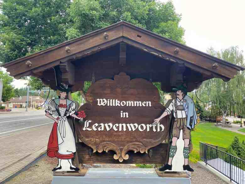 Leavenworth Welcome Sign