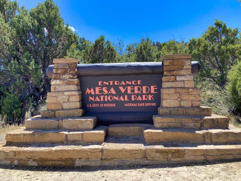 Southwest Road Trip - Mesa Verde National Park Sign