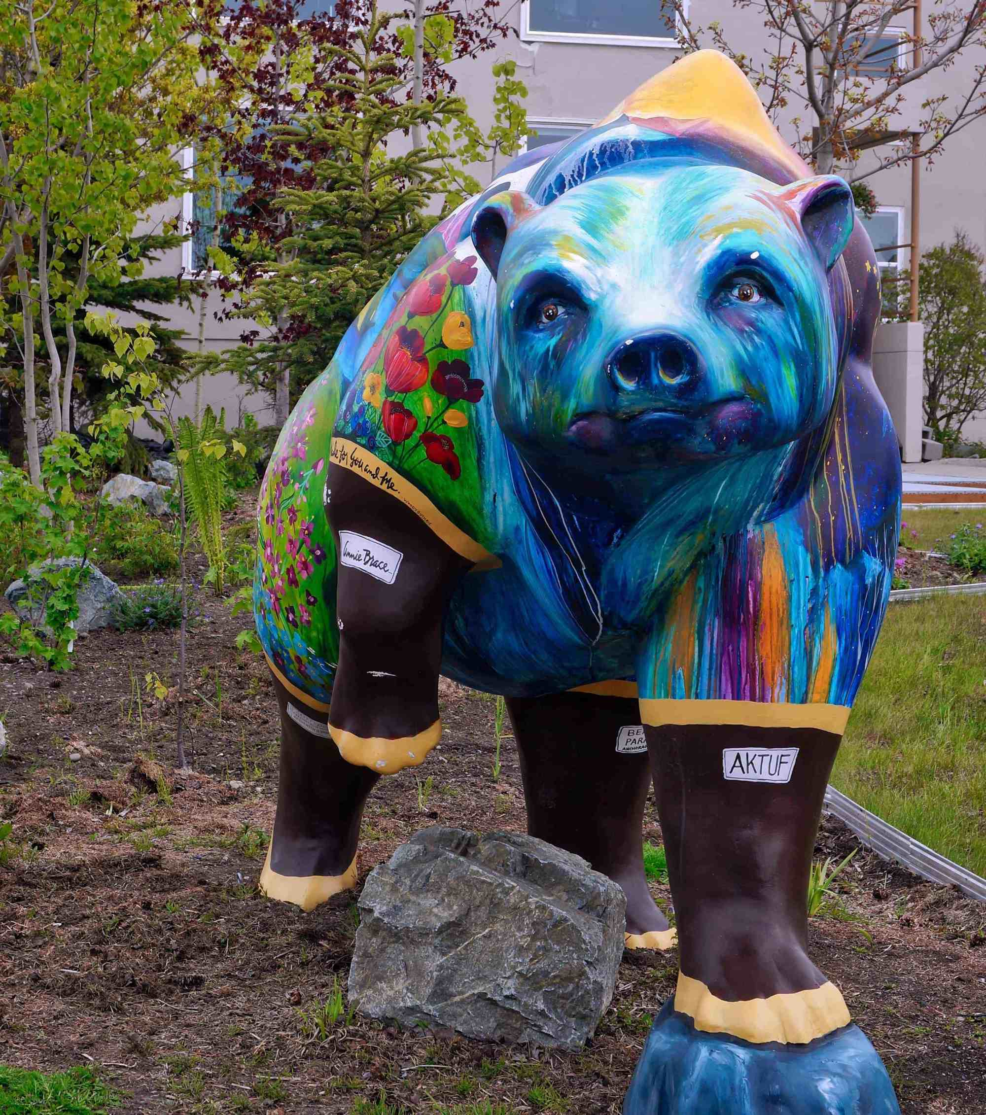 Anchorage Downtown Bear Statue