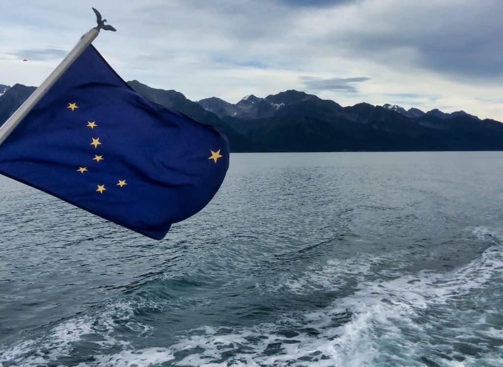 Alaska Flag in Kenai Fjords National Park