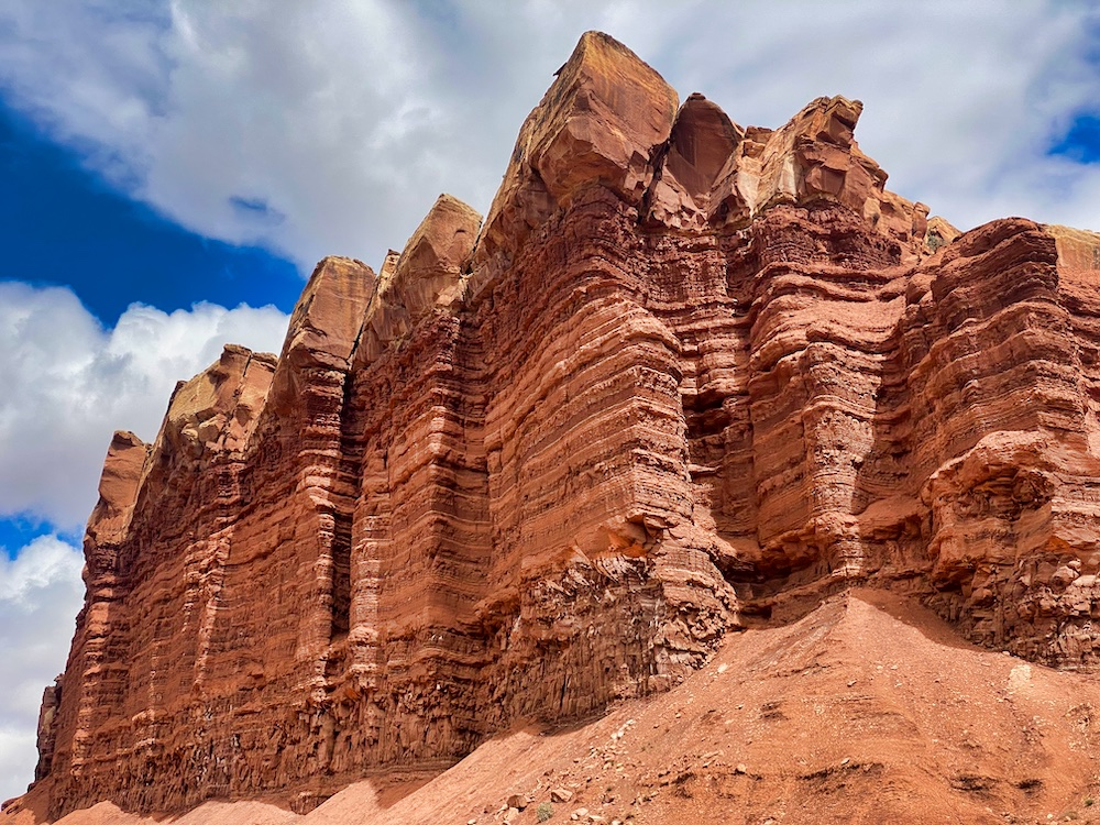 Towering Capitol Reef Rock Formation