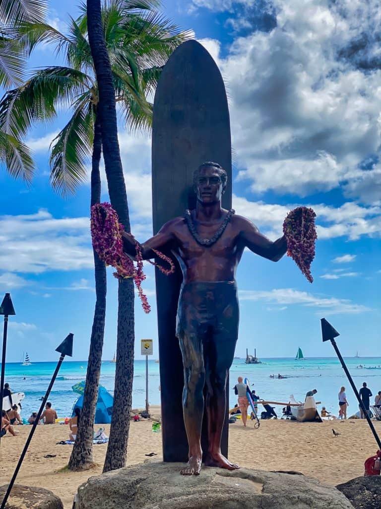 Oahu, Hawaii - Duke Statue