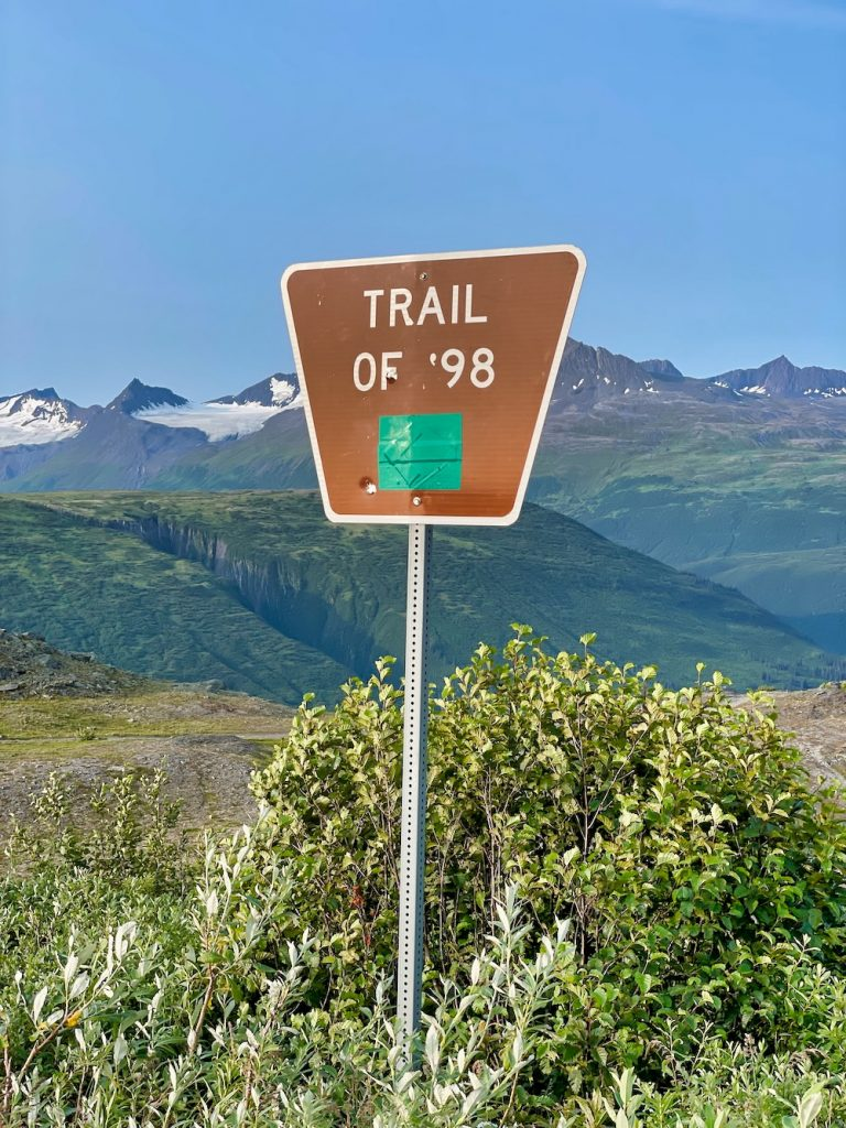 John Hall's Alaska Review - Day 2 - Keystone Canyon Trail of 98 Sign