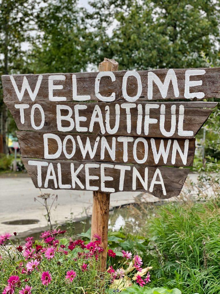 John Hall's Alaska Review - Day 6 - Talkeetna Sign