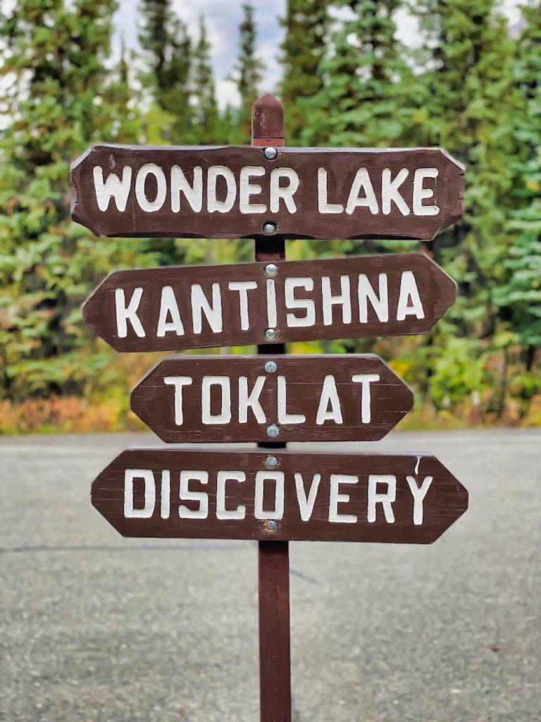 Denali National Park Itinerary - Visitor Center Sign