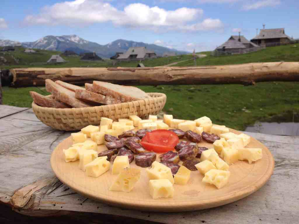 Nice lunch in Velika Planina, Slovenia