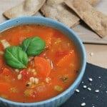 Hearty barley vegetable soup
