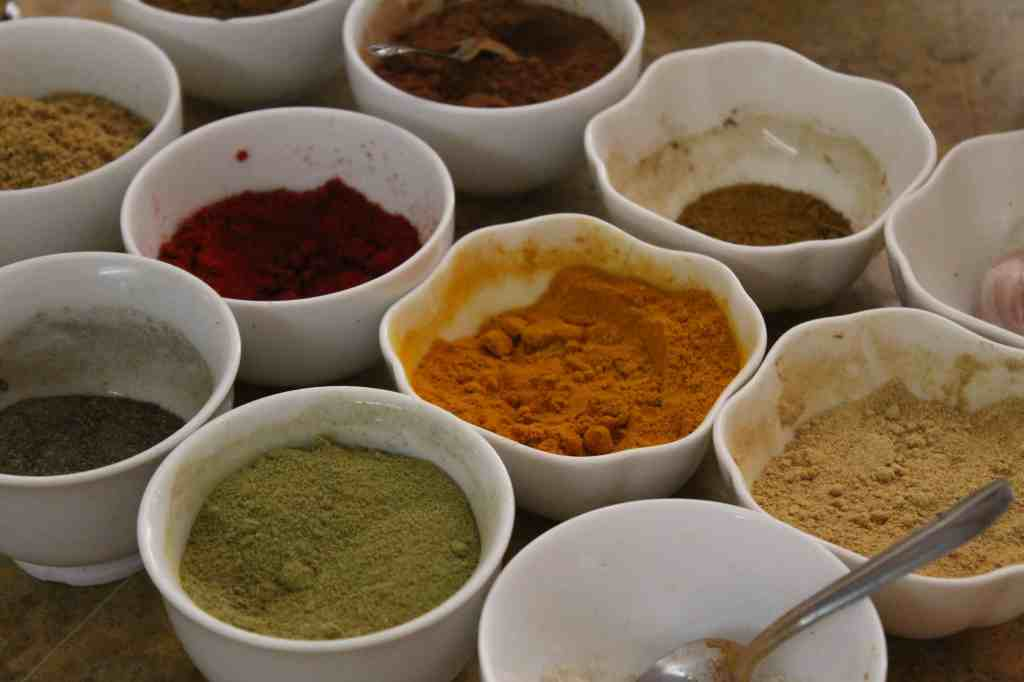 beautiful moroccan spices