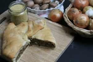 vegan meat pie Québec style - made with millet & veggies instead of meat