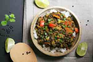 Express vegan lentil curry