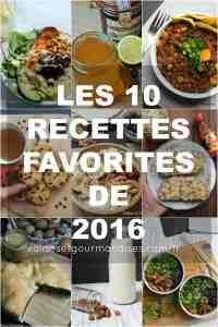Les 10 recettes les plus populaires de 2016