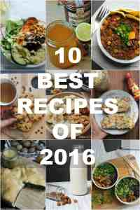 Top 10 recipes of 2016 - vegan & healthy