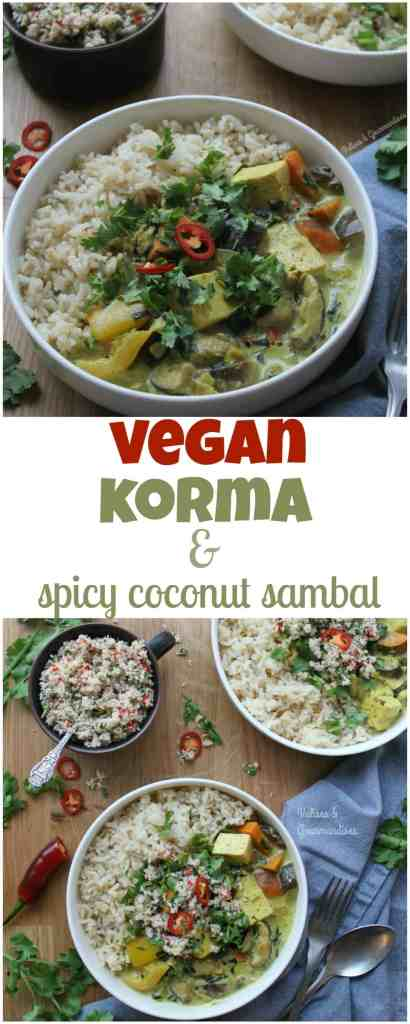 This vegan korma features creamy coconut sauce, tofu paneer and tender veggies and is ready in approx. 30min!