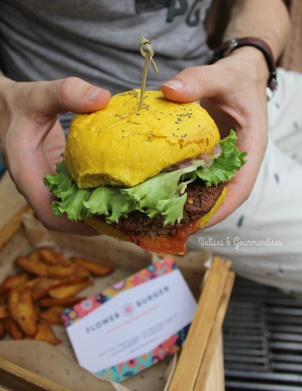Delicious vegan burgers in Milan, Italy