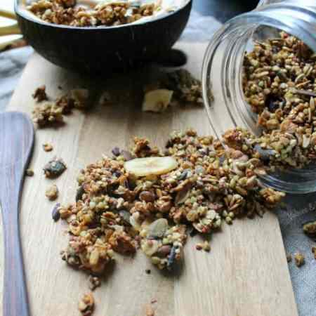 A healthier vegan chunky monkey granola