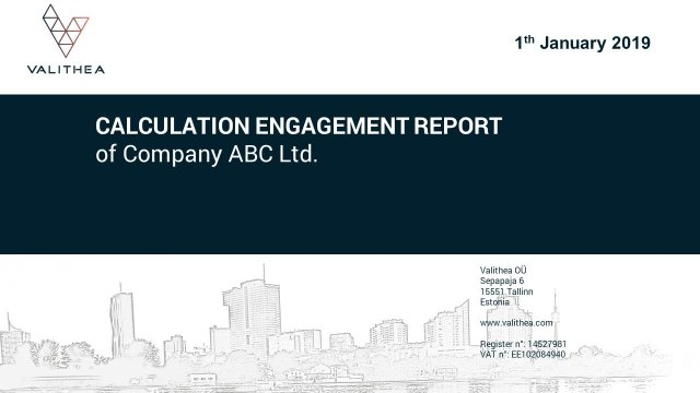 Valuation Report (Calculation Engagement Report) Valithea Advisory