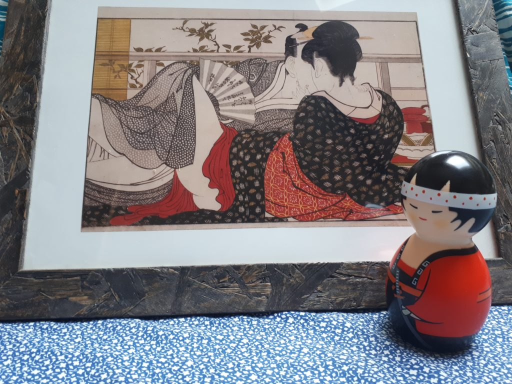 Kokeshi e poem of the pillow di Utamaro