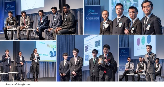 Finalists on the stage collage