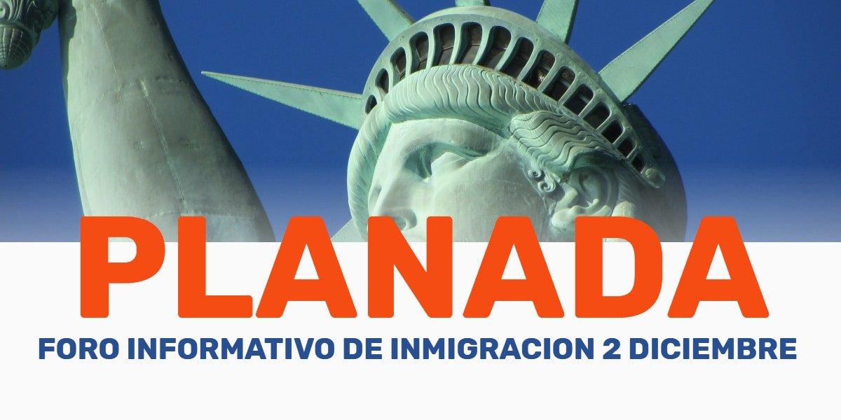 Foro Informativo de Inmigración en Planada 2 Diciembre 2019 cviic