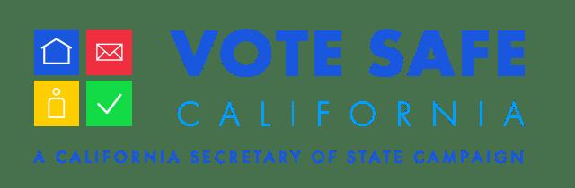 elección de destitución en California logo vote safe